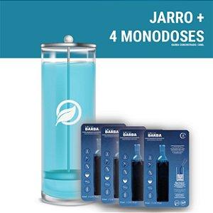 Kit  Jarro 1,2 litro + 4 Monodoses Biocide Barba/DSFX 30ml