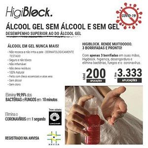 * HIGIBLOCK 1L BIOCIDE - SUBSTITUI O ÁLCOOL GEL