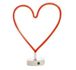 Luminária Silhueta Led Coração Vermelho c/ 1 unidade