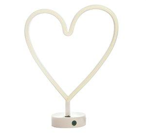 Luminária Silhueta Led Coração Branco c/ 1 unidade