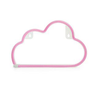 Luminária Silhueta Led Nuvem Rosa c/ 1 unidade