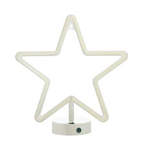 Luminária Silhueta Led Estrela c/ 1 unidade