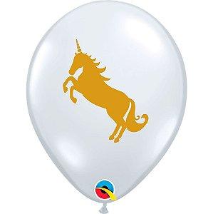 Balão Bexiga Látex Transparente Unicórnio 11 Polegadas c/10