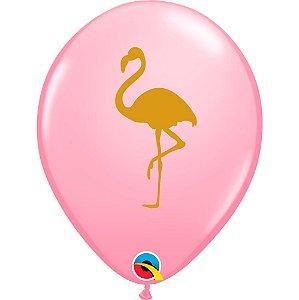 Balão Bexiga Látex Rosa Flamingo 11 Polegadas c/10 unidades