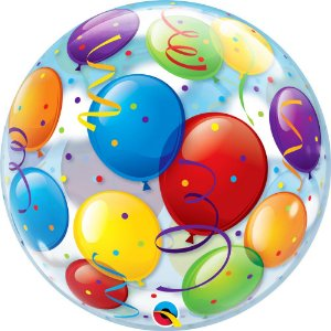 Balão Bexiga Bubble Transparente 22 Polegadas 56 cm c/ 1 uni