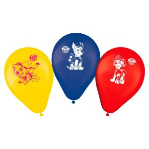 Balão Bexiga Decoração Festa Tema Patrulha Canina c/25 unida