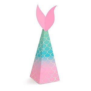 Caixa Mini Cone Decoração Festa Tema Sereia c/ 8 unidades