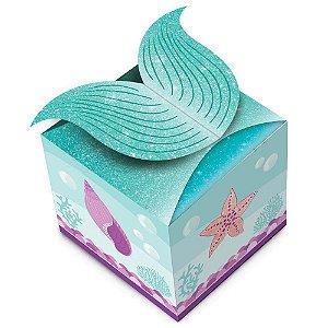 Caixa para Lembrancinhas Decoração Festa Tema Sereia c/ 8uni
