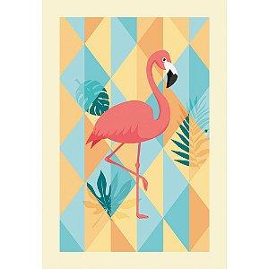 Painel Gigante Decoração Festa Tema Flamingo 4 Peças
