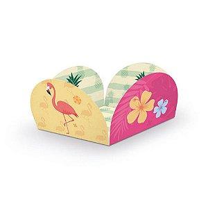 Forminha para Doces Decoração Festa Tema Flamingo c/ 40