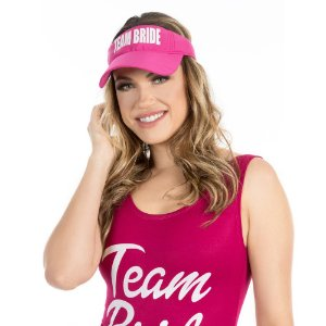 Viseira Pink Team Bride Despedida de Solteira c/ 1 unidade