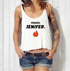 Camiseta Regata O Nome Dela é Jenifer