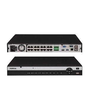 DVR NVD 16CH IP 3116P POE 4K INTELBRAS