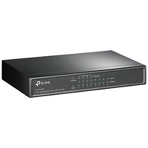Switch Tp-link Tl-sg1008p 8 Portas Giga, 4 Portas Poe