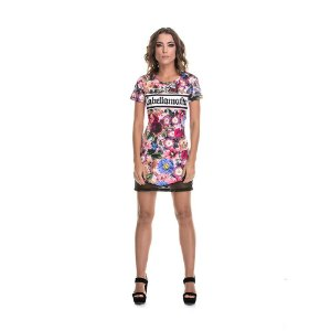 Vestido floral com tela  Labellamafia - P