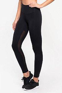 Calça Legging preta  com tela CCM -  U