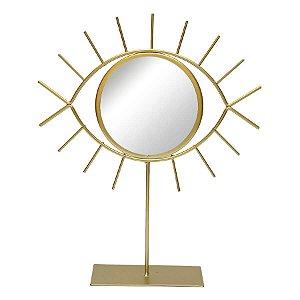 Espelho de Mesa Olho Dourado