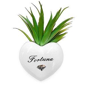 Vaso de Parede Cachepot Coração Fortuna