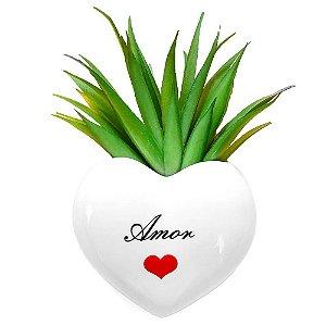 Vaso de Parede Cachepot Coração Amor