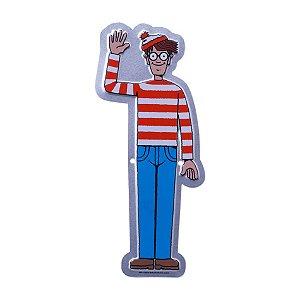 Placa Onde está Wally - Metal 22cm