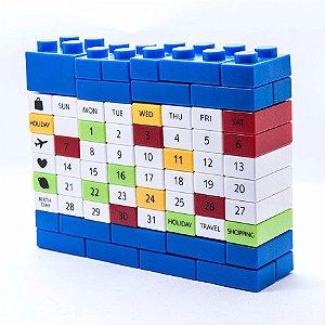 Calendário Bloco de Montar - Azul