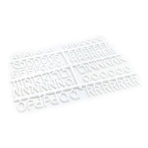 184 Letras e Números para Mural Letreiro Letter Board - Branco
