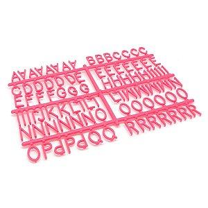 184 Letras e Números para Mural Letreiro Letter Board - Rosa