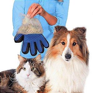 Luva Escova Tira Pêlos Cachorro e Gato - Pet
