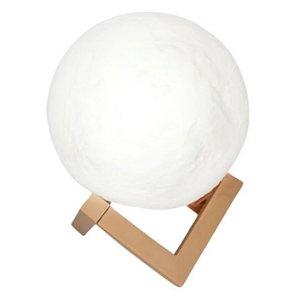 Luminária Lua Cheia 3D 11cm - Base Plástico