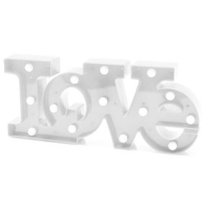 Luminária Love Branco - Amor - Namorados