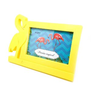 Porta-Retrato Flamingo - Amarelo