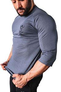 Camiseta Iron Meia Manga Cinza