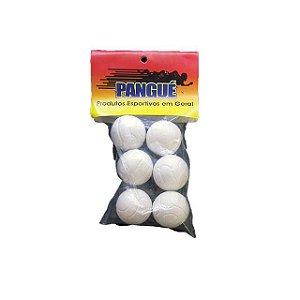 Bolas de Pebolim C/6 unidades Brancas