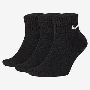 Kit 3 Pares Meia de Treino Nike Everyday Cushioned Ankle