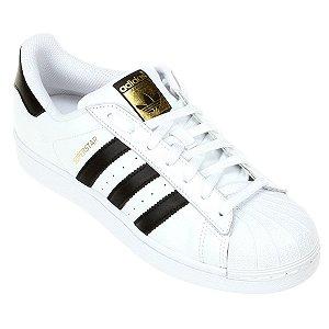 8e344348f Tênis adidas Superstar Unissex Promoção Branco Preto
