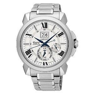 Relógio Seiko Premier Kinetic Perpetual  snp139p1 Safira