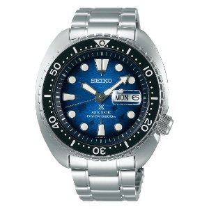 Relogio Seiko Prospex Automático king Turtle Save the Ocean Manta Ray Srpe39k1 Safira + Cerâmica