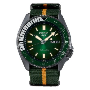 Relogio New Seiko 5 Sports Automático  Naruto & Boruto Edition Limited ROCK LEE srpf73k1