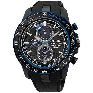 Relógio Seiko Sportura Solar Perpetual ssc429b1 * Safira