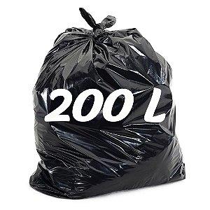Saco De Lixo 200lt Preto