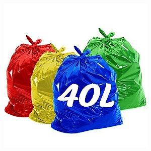 Saco De Lixo 40lt Colorido