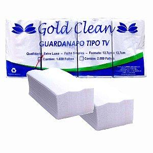 Guardanapo Tipo TV Lanchonete 13,7x13,7 c/ 1600un Gold Clean