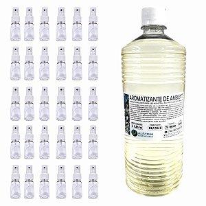 Aromatizante de Ambiente 1lt + Frasco Pet 30ml Spray Lembrancinha