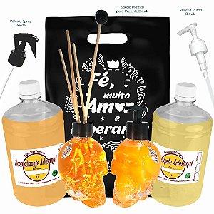 Kit Presente Difusor e Saboneteira Linha Rock Premium