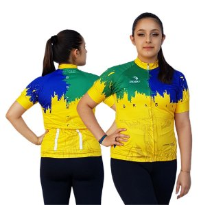 Camisa Ciclismo Sódbike Feminina Nações - Brasil