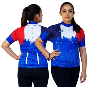Camisa Ciclismo Sódbike Feminina Nações - França