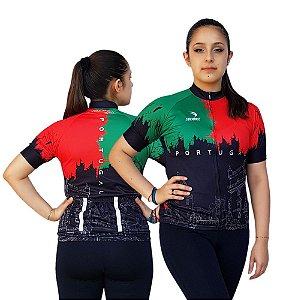 Camisa Ciclismo Sódbike Feminina Nações - Portugal