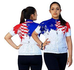 Camisa Ciclismo Sódbike Feminina Nações - USA