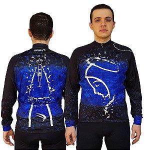 Camisa Ciclismo Sódbike NSA Azul Flanelada