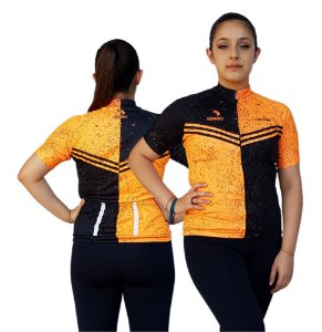 Camisa Ciclismo Feminina SD21 FL02 - Fluor